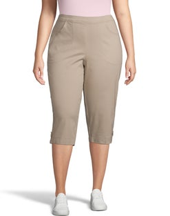 JMS 2-Pocket Pull-On Capris with Horn Button Tab