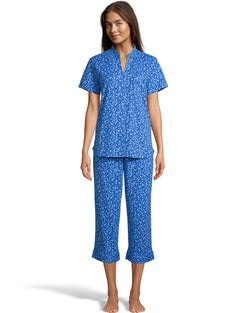 Shades of Blue Capri Sleep Set