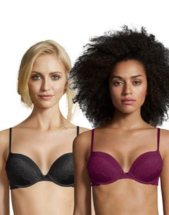 Maidenform Push-Up Bras - Solid and Lace 2-Pack