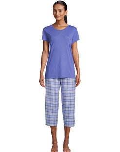 Goodnight Kiss Plaid Capri Sleep Set