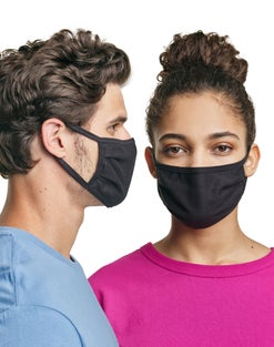 Hanes Wicking Cotton Masks, 50-Pack