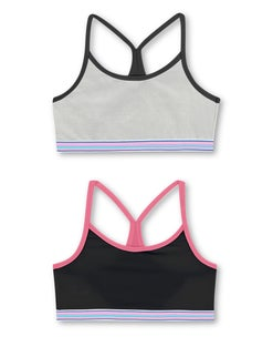 Hanes Girls' ComfortFlex Fit® Pullover Bra with Thin Racerback Straps 2-Pack