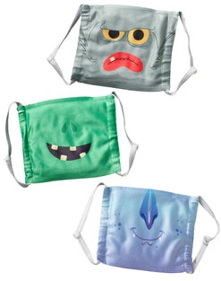 Halloween Poly Mask with Insert Pocket 3-pack