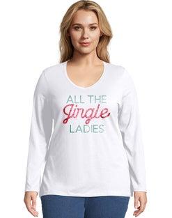 JMS All the Jingle Long Sleeve V-Neck Tee