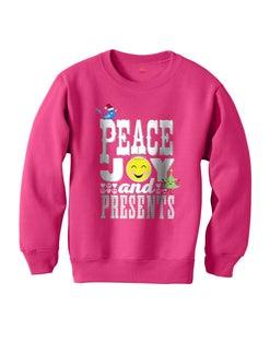 Hanes Girls' Peace and Presents Sweatshirt
