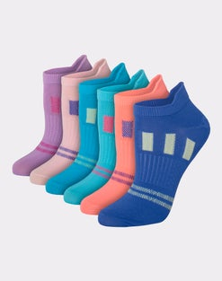 Hanes Women's Performance Heel Shield No Show Socks, 6-Pack