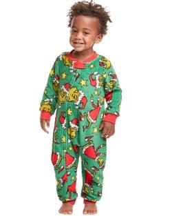 Hanes Baby The Grinch I'll Be Good Next Year Sleep Set
