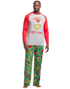 Hanes Men's The Grinch I'll Be Good Next Year Sleep Set