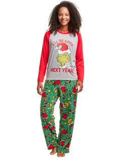 Hanes Women's The Grinch I'll Be Good Next Year Sleep Set