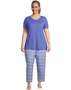 Goodnight Kiss Plaid Plus Capri Sleep Set
