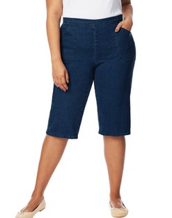 JMS 2-Pocket Capris with Criss-Cross Detail
