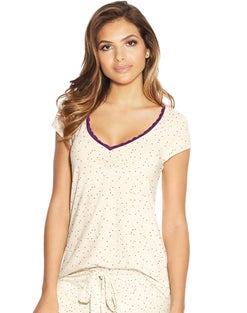 Maidenform Lace Trim Cap Sleeve Tee