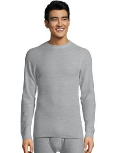 Hanes Ultimate® Organic Cotton Men's Thermal Crewneck