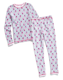 Warm & Cuddly by Cuddl Duds Girls' Waffle Thermal Set