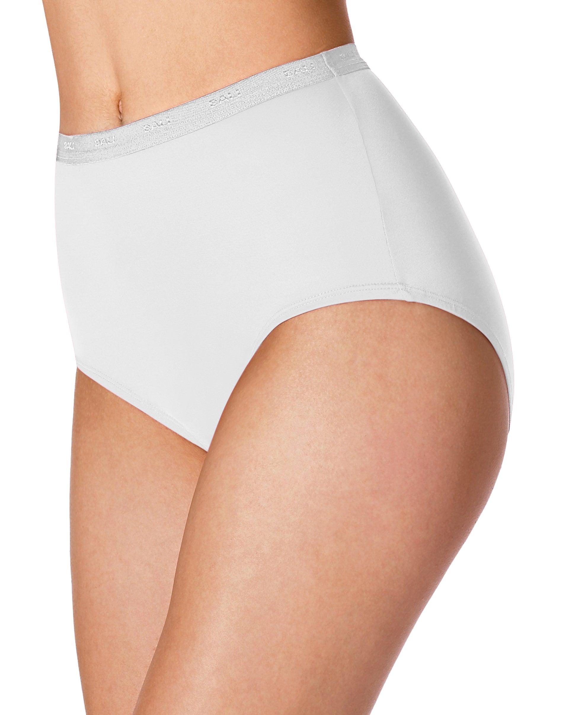 Comfort Choice Womens Plus Size 3-Pack Stretch Microfiber Full-Cut Brief