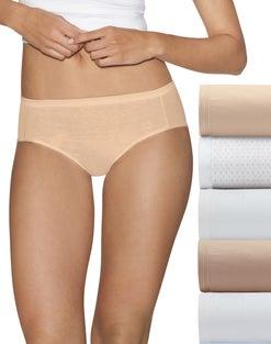 Hanes Ultimate™ Comfort Cotton Women's Hipster Panties 5-Pack