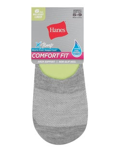 Hanes Women's Comfort Fit Invisible Liner: Mid Sport,  6-Pack