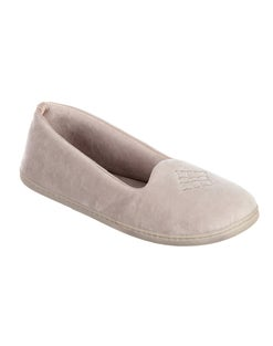 Dearfoams Women's Microfber Velour Closed Back