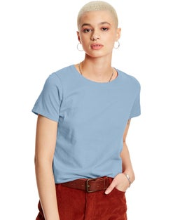 Hanes Women's Relaxed Fit TAGLESS® Jersey ComfortSoft® Crewneck T-Shirt