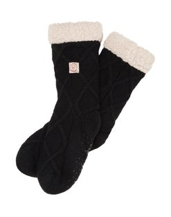 Dearfoams Women's Lattice Knit Blizzard Sock