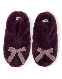 Dearfoams Women's Furry Toasty Slipper Sock