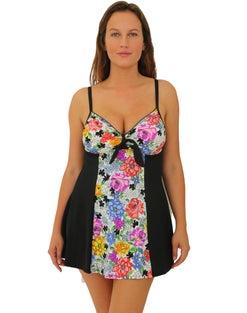 Fit 4U® Vintage Tie-Front 1-Piece D & DD Cup Swim Dress