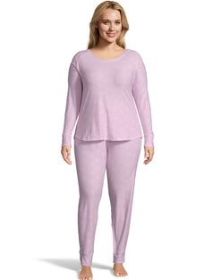 Jersey Long Sleeve Plus PJ Set--Pink
