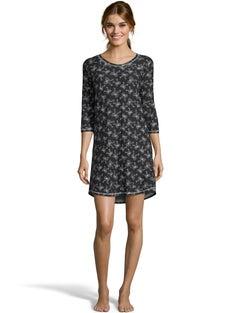 Jersey Sleepshirt--Black