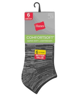 Hanes  Women's ComfortSoft® Low Cut Socks, 6-Pack