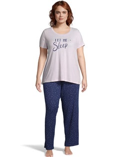 Dearfoams Women's Plus Let Me Sleep PJ Set