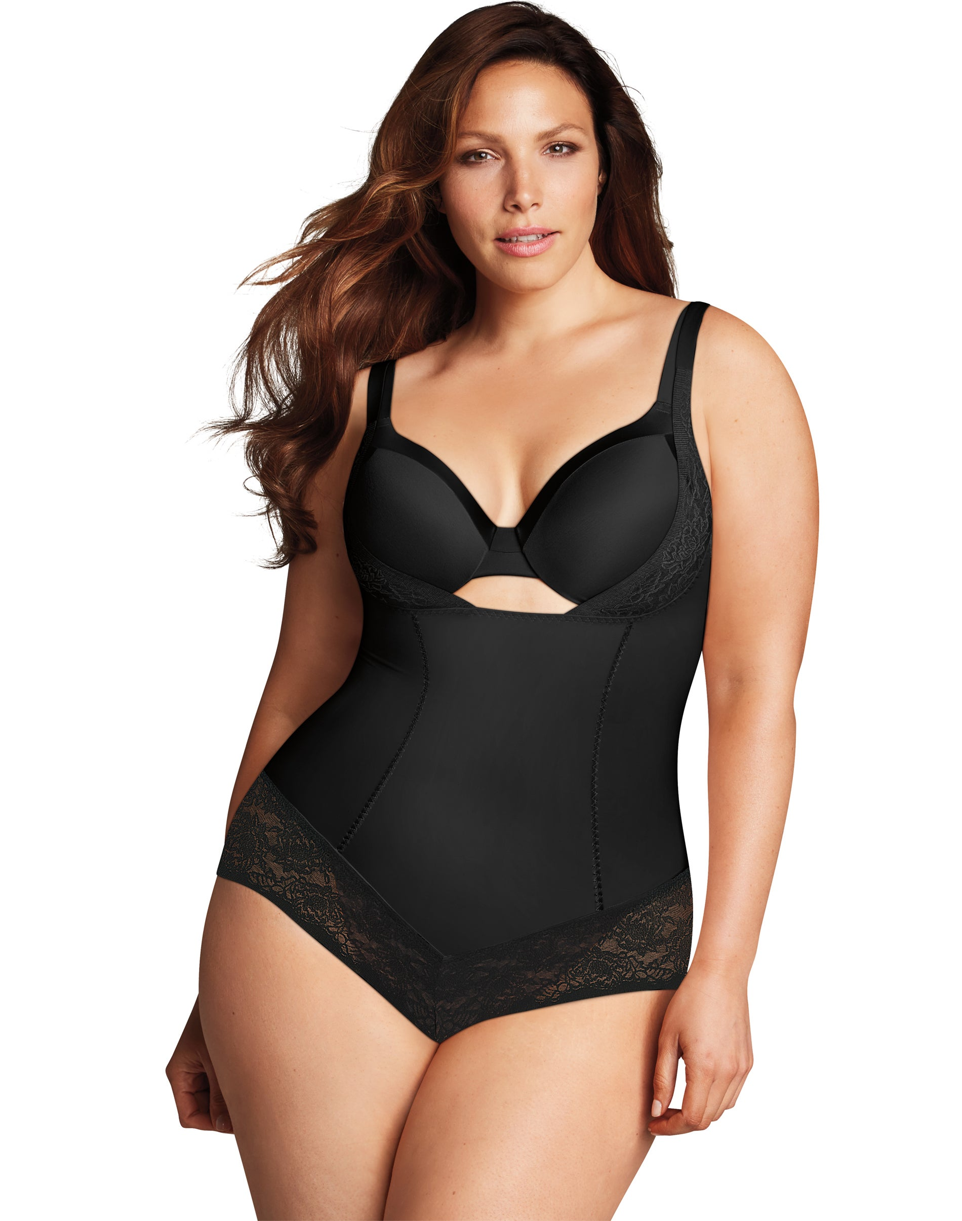 Curvi Shapewear Womens Underwire Body Slimmer With Hidden Bra