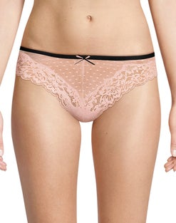 Maidenform Comfort Devotion Mesh and Lace Tanga