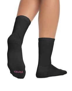 Hanes Cushioned Women's Crew Athletic Socks 10-Pack