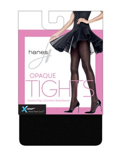 Hanes X-Temp® Opaque Control Top Tights with Comfort Waistband