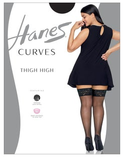 Hanes Curves Lace Thigh High