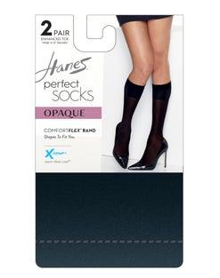 Hanes Perfect X-Temp® Opaque Trouser Socks 2-Pack
