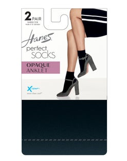 Hanes Perfect X-Temp® Opaque Anklet Socks 2-Pack