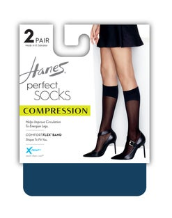 Hanes Perfect Diamond Compression Socks 2-Pack