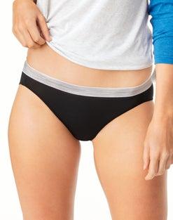 Hanes Cool Comfort™ Women's Microfiber Sporty Bikinis  6-Pack