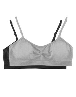 Hanes Girls' Seamless Molded Cup Wirefree Bra 2-Pack