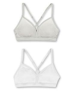 Hanes Girls' ComfortFlex Fit® Pullover Bra with Adjustable Racerback Straps 2-Pack