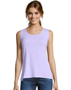 Hanes Women's Mini-Ribbed Cotton Tank