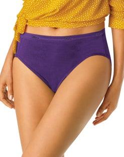 Hanes® Cool Comfort™ Women's Cotton Hi-Cut Panties 6-Pack