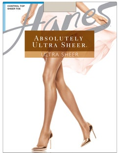 Hanes Absolutely Ultra Sheer Control Top Sheer Toe Pantyhose