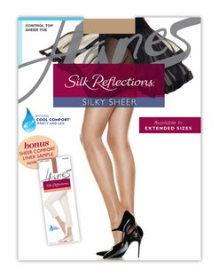 Hanes Silk Reflections Pantyhose Sheer Liner Bonus Pack