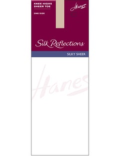 Hanes Silk Reflections  Knee Highs, Sandalfoot  6-Pack
