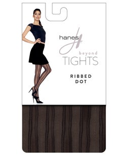 Hanes Beyond Ribbed Dot Tights