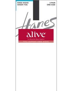 Hanes Alive Full Support Sheer Knee Highs 2-Pack