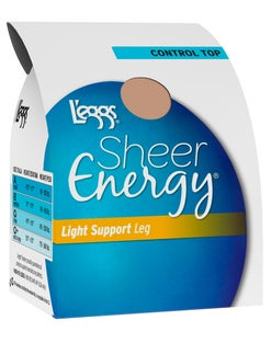 L'eggs Sheer Energy Light Support Leg Control Top, Sheer Toe Pantyhose 4-Pack
