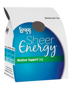 L'eggs Sheer Energy Regular, Reinforced Toe Pantyhose 6-Pack